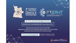 Participe na 7ª Conferência Nacional sobre Ciência e Tecnologia e na 2ª Edição da FIEBaT - Inscrições Abertas até o dia 18 de Outubro