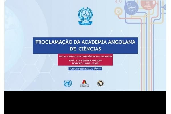 Academia Angolana de Ciências (AAC) será Proclamada em Sessão Solene - 04 de Dezembro 2020