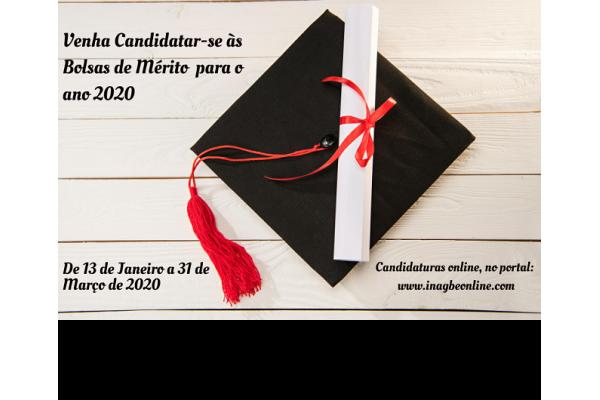 Candidaturas às Bolsas de Mérito para o ano 2020 começam já em Janeiro!