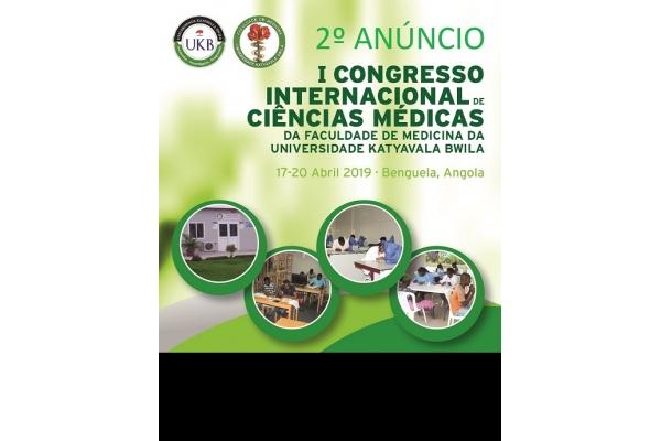 Faculdade de Medicina da Universidade Katyavala Bwila realiza o Iº Congresso Internacional de Ciências Médicas - Inscrições: 02 de Abril 2019