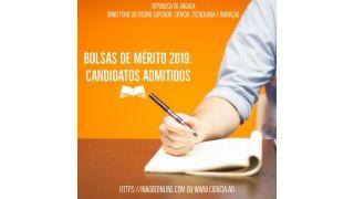 Bolsas de Mérito: MESCTI Publica Lista de Candidatos Admitidos ao Teste de Conhecimento