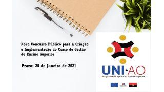 Novo Concurso Público para a Criação e Implementação do Curso de Gestão do Ensino Superior - Programa UNI.AO