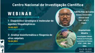 Participe no Webinar sobre métodos de Diagnóstico e Análise Bioinformática e Filogenética de Vírus Vegetal - 14 e 16 de Abril 2021