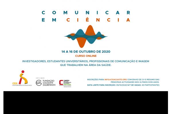 CISA realiza Curso Online de Comunicação em Ciência - Inscrições Abertas até 5 de Outubro de 2020
