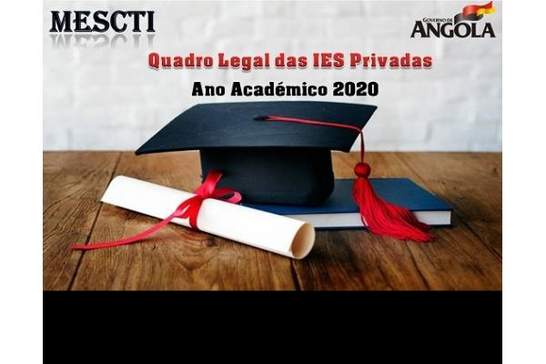 Conheça o Quadro Legal das Instituições de Ensino Superior Privadas para o Ano Académico 2020